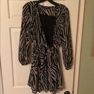 Zara wrap dress, zebra print
